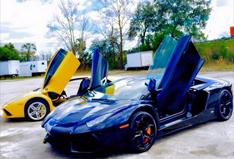 Two Lambos Being Prepped